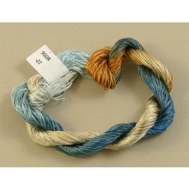 Rayonne perlée fine du bleu au beige