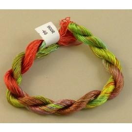 Rayonne perlée fine du vert au rouge