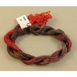 Rayonne perlée moyenne du brun au rouge