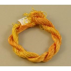 Rayonne perlée moyenne jaune orangé changeant