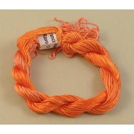 Rayonne perlée moyenne orange changeant