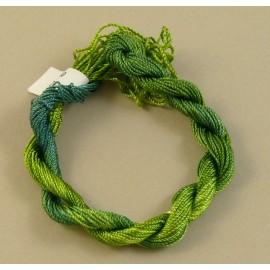 Rayonne perlée moyenne vert clair changeant