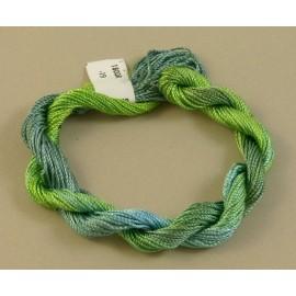 Rayonne perlée moyenne du vert au bleu changeant