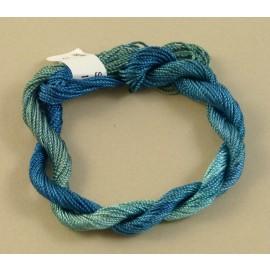Rayonne perlée moyenne bleu turquoise changeant