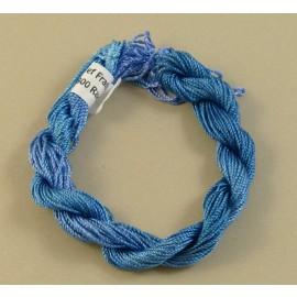 Rayonne perlée moyenne bleu changeant