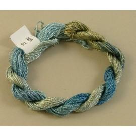 Rayonne perlée moyenne du bleu au beige