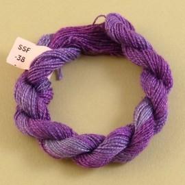 Soie flammée violet changeant