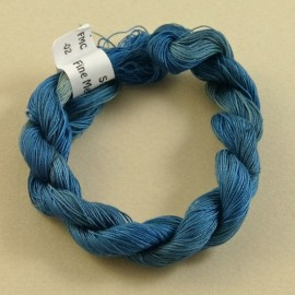 Coton mercerisé fin bleu gris à cobalt
