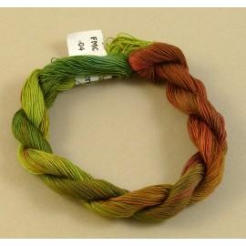 Coton mercerisé fin du vert au rouge