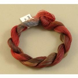 Coton mercerisé fin du brun au rouge