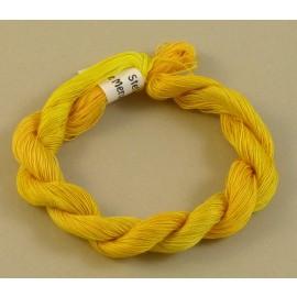 Coton mercerisé fin jaune d'or changeant