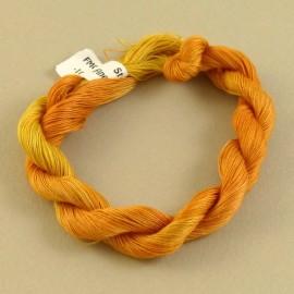 Coton mercerisé fin jaune orangé changeant