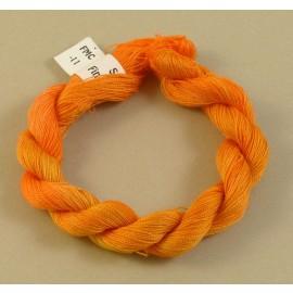 Coton mercerisé fin orange clair changeant