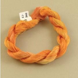 Coton mercerisé fin orange changeant