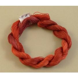 Coton mercerisé fin rouge rosé changeant