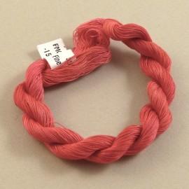 Coton mercerisé fin rouge changeant