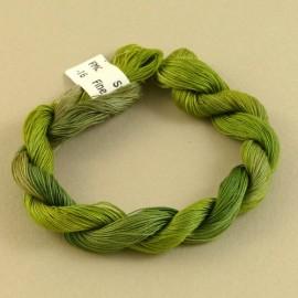 Coton mercerisé fin vert mousse changeant