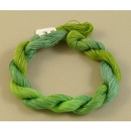 Coton mercerisé fin vert tendre changeant