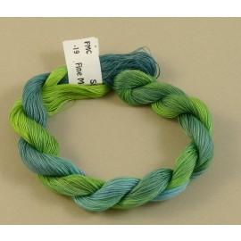 Coton mercerisé fin du vert tendre au bleu clair