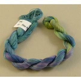 Coton mercerisé fin du vert au violet