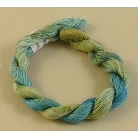 Coton mercerisé fin du bleu au beige