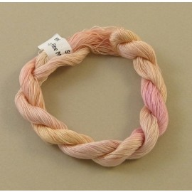 Coton mercerisé fin rose pâle changeant