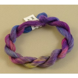 Coton mercerisé fin du violet au jaune