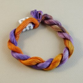 Coton mercerisé fin du orange au violet
