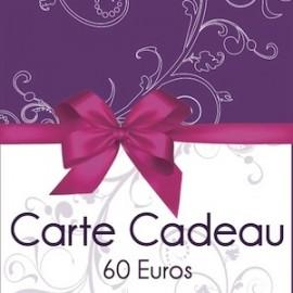 Carte cadeau 60 €