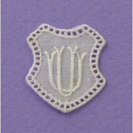 Monogramme écusson UV ou VU
