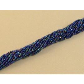 Charlotte 13/0 bleu marine irisé sur fil