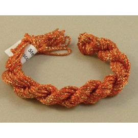 Chainette viscose Lurex orange changeant