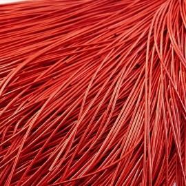 Cannetille rouge brillant 1 mm