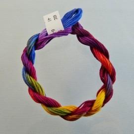 coton mouliné du jaune au violet changeant