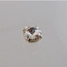 Strass à coudre ancien rivoli 12 mm cristal