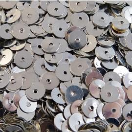 Paillette ancienne 5 mm métallique argentée