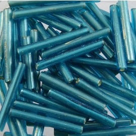 Grand tube ancien 20 mm turquoise