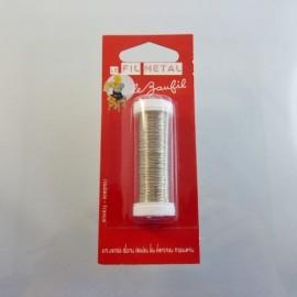 Fil métal argenté fin 0,2 mm Le Beaufil