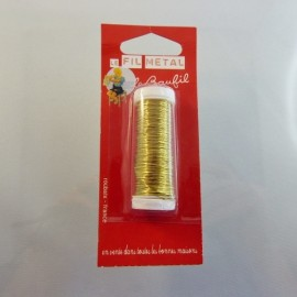 Fil métal doré 0,4 mm Le Beaufil