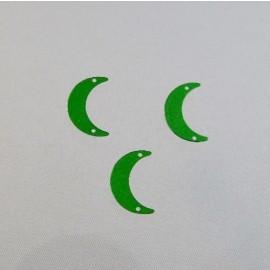 Sequin ancien lune 15 mm vert