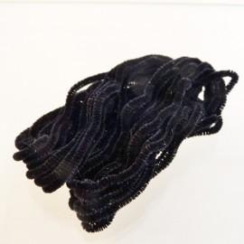Chenille de soie noire Au Ver à Soie