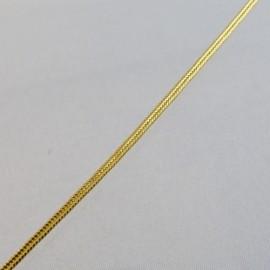 Soutache métallique dorée 2 mm