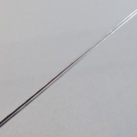 Soutache métallique argentée 2 mm