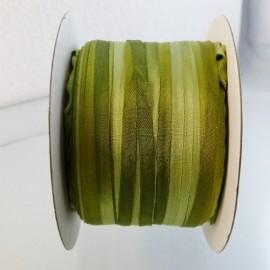 Ruban soie 4 mm thé vert changeant