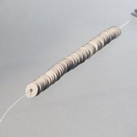 Paillette 5 mm argent mat sur fil