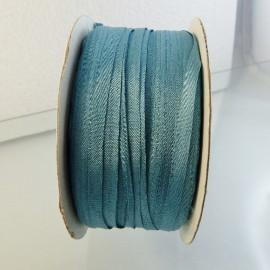 Ruban soie 4 mm bleu porcelaine