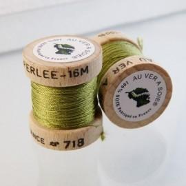 Soie perlée vert tilleul Au ver à Soie