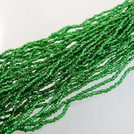 Rocaille 2 mm sur fil vert prairie diamanté