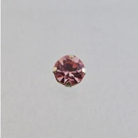 Strass à coudre Preciosa 6 mm rose