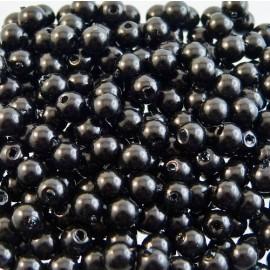 Perle vintage noire 4 mm